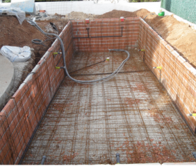 Forming the Swimming Pool with Electro-soldered Steel
